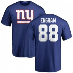 Men's Evan Engram New York Giants Name & Number Logo T-Shirt - Royal