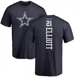 Men's Ezekiel Elliott Dallas Cowboys Backer T-Shirt - Navy