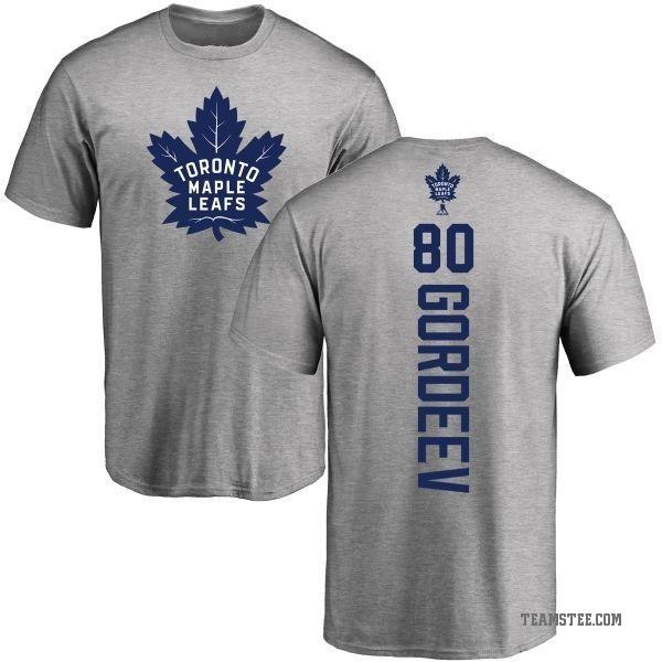 the best attitude f9acd f1a62 Men's Fedor Gordeev Toronto Maple Leafs Backer T-Shirt - Ash - Teams Tee