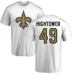 Men's Forrest Hightower New Orleans Saints Name & Number Logo T-Shirt - White
