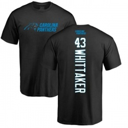 Men's Fozzy Whittaker Carolina Panthers Backer T-Shirt - Black