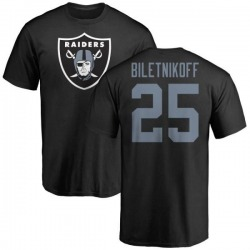 Men's Fred Biletnikoff Oakland Raiders Name & Number Logo T-Shirt - Black