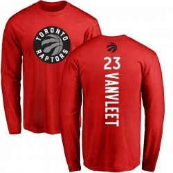 Men's Fred VanVleet Toronto Raptors Red Backer Long Sleeve T-Shirt