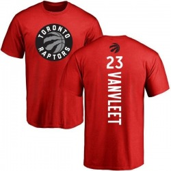 Men's Fred VanVleet Toronto Raptors Red Backer T-Shirt