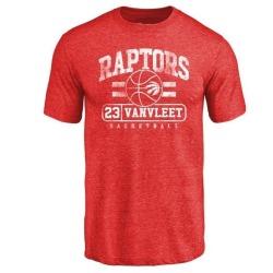 Men's Fred VanVleet Toronto Raptors Red Baseline Tri-Blend T-Shirt