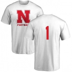 Men's Fyn Anderson Nebraska Cornhuskers One Color T-Shirt - White