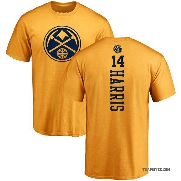 huge discount 209be fed0d Men's Gary Harris Denver Nuggets Gold One Color Backer T-Shirt - Teams Tee
