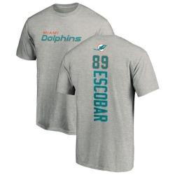 Men's Gavin Escobar Miami Dolphins Backer T-Shirt - Ash