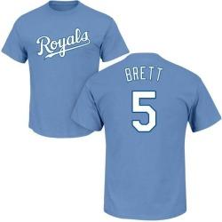 Men's George Brett Kansas City Royals Roster Name & Number T-Shirt - Light Blue