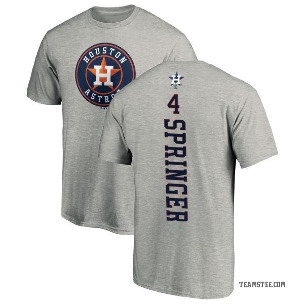 new arrival 5fba4 94b6f Men's George Springer Houston Astros Backer T-Shirt - Ash - Teams Tee