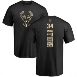 Men's Giannis Antetokounmpo Milwaukee Bucks Black One Color Backer T-Shirt