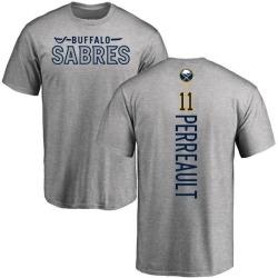 Men's Gilbert Perreault Buffalo Sabres Backer T-Shirt - Ash