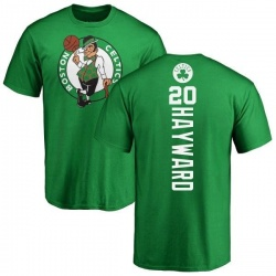 Men's Gordon Hayward Boston Celtics Kelly Green Backer T-Shirt