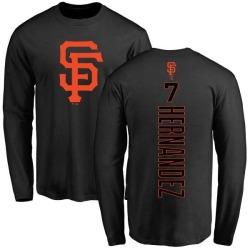 Men's Gorkys Hernandez San Francisco Giants Backer Long Sleeve T-Shirt - Black