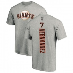 Men's Gorkys Hernandez San Francisco Giants Backer T-Shirt - Ash