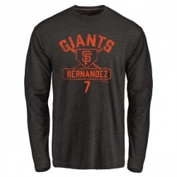 Men's Gorkys Hernandez San Francisco Giants Base Runner Tri-Blend Long Sleeve T-Shirt - Black