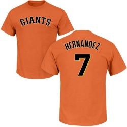 Men's Gorkys Hernandez San Francisco Giants Roster Name & Number T-Shirt - Orange