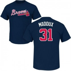 Men's Greg Maddux Atlanta Braves Roster Name & Number T-Shirt - Navy