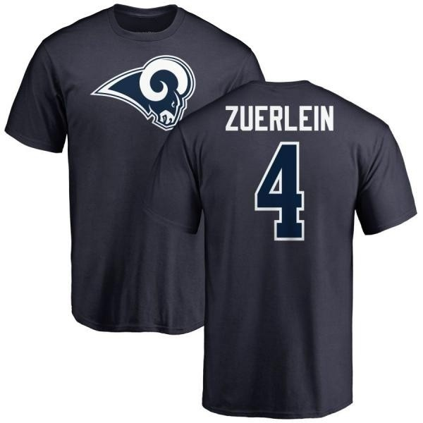 sports shoes 5b974 58f36 Men's Greg Zuerlein Los Angeles Rams Name & Number Logo T-Shirt - Navy -  Teams Tee