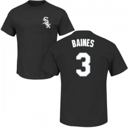 Men's Harold Baines Chicago White Sox Roster Name & Number T-Shirt - Black