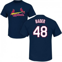 Men's Harrison Bader St. Louis Cardinals Roster Name & Number T-Shirt - Navy
