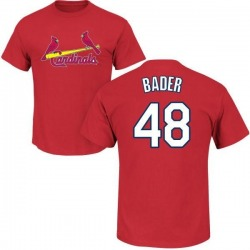 Men's Harrison Bader St. Louis Cardinals Roster Name & Number T-Shirt - Red