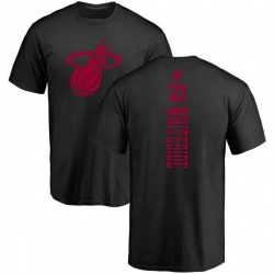 Men's Hassan Whiteside Miami Heat Black One Color Backer T-Shirt