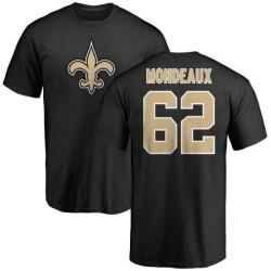 Men's Henry Mondeaux New Orleans Saints Name & Number Logo T-Shirt - Black