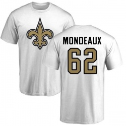 Men's Henry Mondeaux New Orleans Saints Name & Number Logo T-Shirt - White