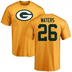 Men's Herb Waters Green Bay Packers Name & Number Logo T-Shirt - Gold