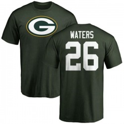 Men's Herb Waters Green Bay Packers Name & Number Logo T-Shirt - Green