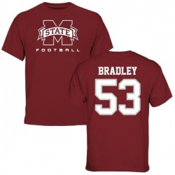 Men's Hunter Bradley Mississippi State Bulldogs Football T-Shirt - Maroon