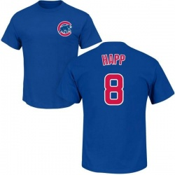 Men's Ian Happ Chicago Cubs Roster Name & Number T-Shirt - Royal