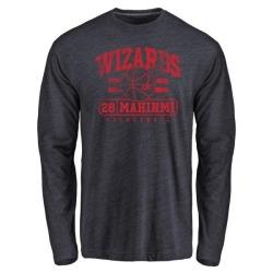 Men's Ian Mahinmi Washington Wizards Navy Baseline Tri-Blend Long Sleeve T-Shirt