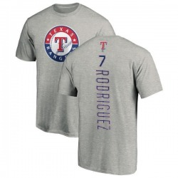 Men's Ivan Rodriguez Texas Rangers Backer T-Shirt - Ash