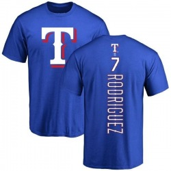 Men's Ivan Rodriguez Texas Rangers Backer T-Shirt - Royal