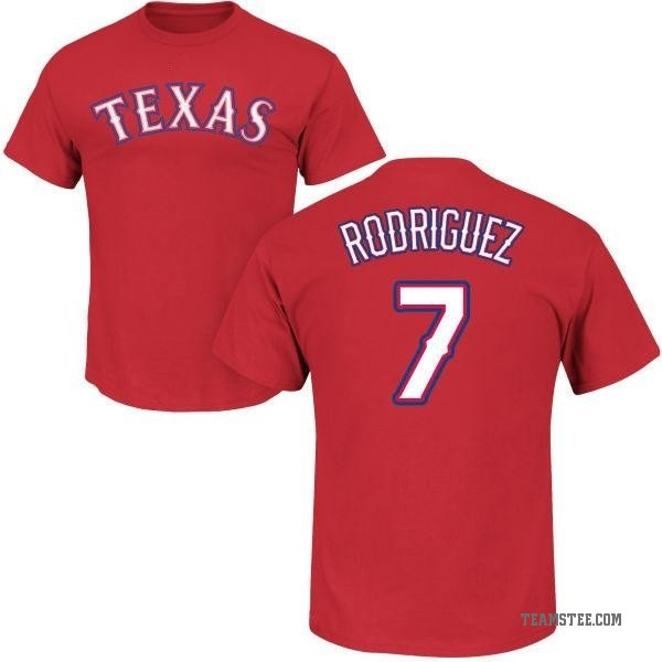 premium selection 87740 cabc6 Men's Ivan Rodriguez Texas Rangers Roster Name & Number T-Shirt - Red -  Teams Tee
