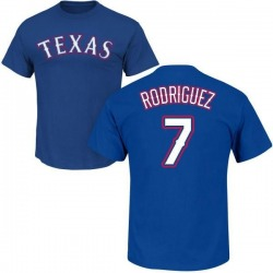 Men's Ivan Rodriguez Texas Rangers Roster Name & Number T-Shirt - Royal