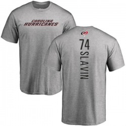 Men's Jaccob Slavin Carolina Hurricanes Backer T-Shirt - Ash