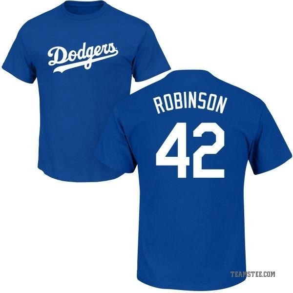 new concept f5036 ffff3 Men's Jackie Robinson Los Angeles Dodgers Roster Name & Number T-Shirt -  Royal - Teams Tee