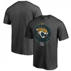 Men's Jacksonville Jaguars Heather Charcoal 2017 AFC South Division Champions T-Shirt