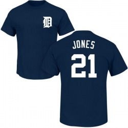 Men's JaCoby Jones Detroit Tigers Roster Name & Number T-Shirt - Navy
