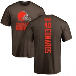 Men's Jahwan Edwards Cleveland Browns Backer T-Shirt - Brown