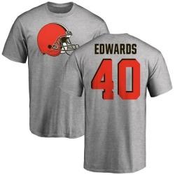 Men's Jahwan Edwards Cleveland Browns Name & Number Logo T-Shirt - Ash