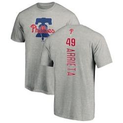 Men's Jake Arrieta Philadelphia Phillies Backer T-Shirt - Ash