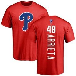 Men's Jake Arrieta Philadelphia Phillies Backer T-Shirt - Red
