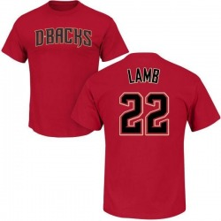 Men's Jake Lamb Arizona Diamondbacks Roster Name & Number T-Shirt - Crimson