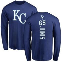 Men's Jakob Junis Kansas City Royals Backer Long Sleeve T-Shirt - Royal