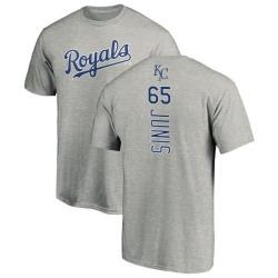 Men's Jakob Junis Kansas City Royals Backer T-Shirt - Ash