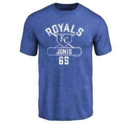 Men's Jakob Junis Kansas City Royals Base Runner Tri-Blend T-Shirt - Royal